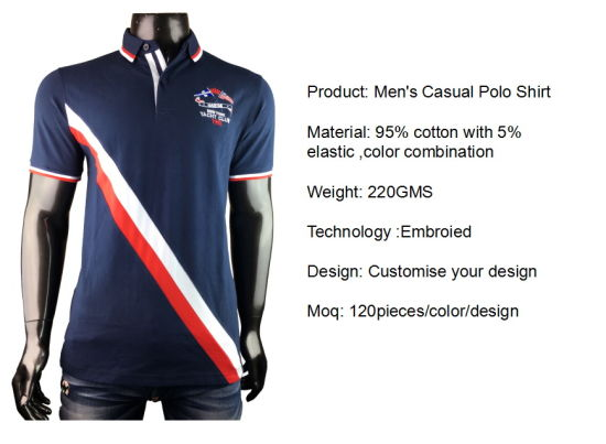 Custom Clothes/Clothing Plain/Blank/Stripe Printed/Embroidery Apparel/Garment Cotton/Polyester Pique/Jersey Dress Men's Golf Polo Shirt