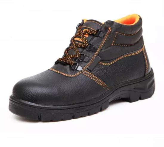 High Ankle Safety Shoes with Steel Toe Cap
