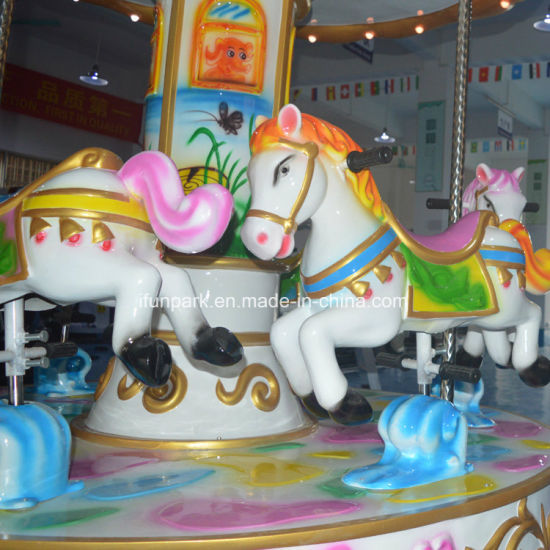 Outdoor Christmas Music Carousel Decoration Kiddie Rides