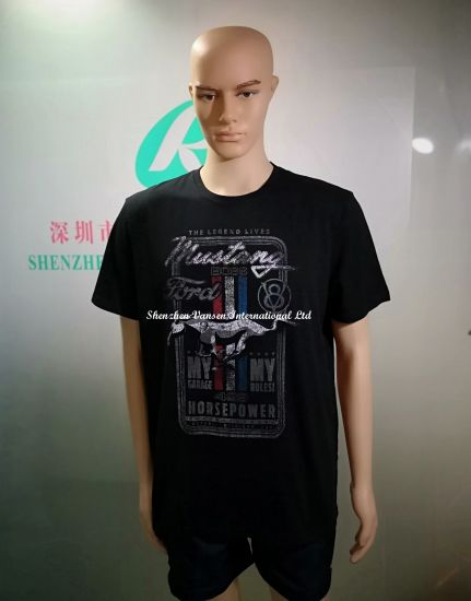 Short Sleeve Black Men's Shirt