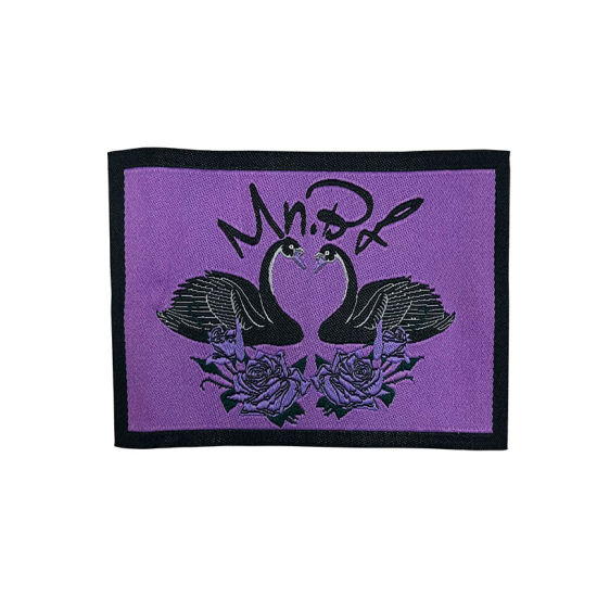 Custom Design Logo Organic Cotton Fabric Cloth Damask Digital Woven Garment Clothing Label