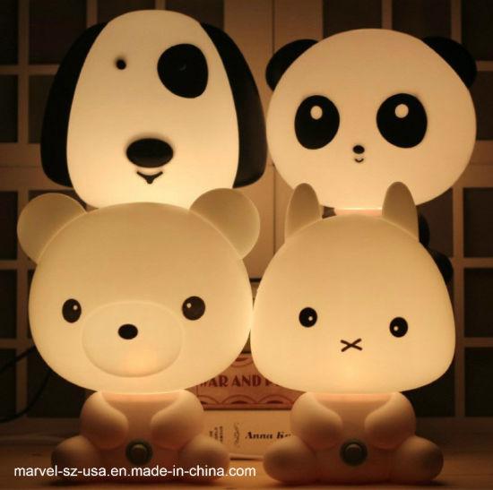 Cartoon Animal Kids Gift Bed Sleeping Night Lamp Night Light