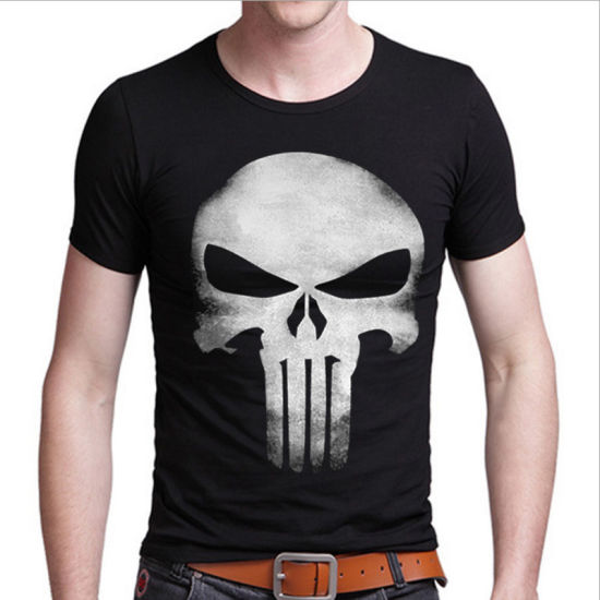 Black Short Sleeve 3D Printing T-Shirt for Man with Round Neck pictures & photos