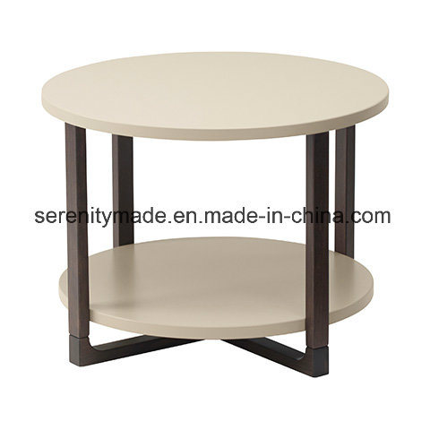 China Wholesale Round Solid Wood Trestle Custom Made Dining Table