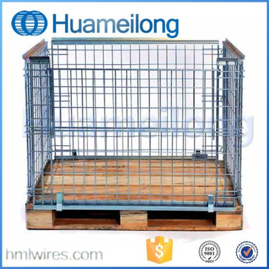 Metal Mesh Folding Storage Cage Pallet