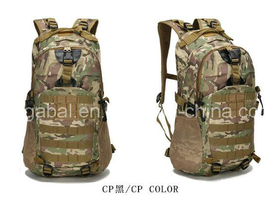 600d Oxford Army Military Sports Travel Knapsack Bag pictures & photos