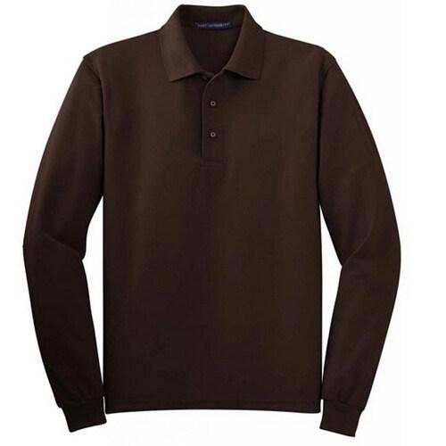 Plain Round Neck Polo Shirt