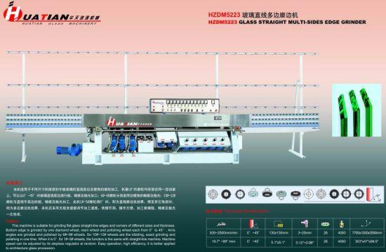 9 Engines Flat Glass Straight Line Edging Machine