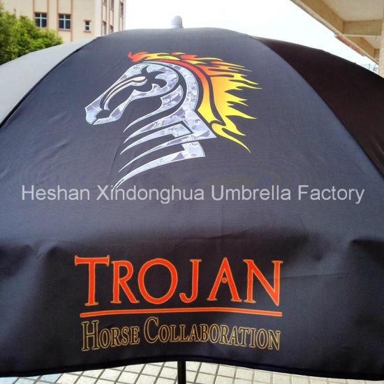 36 Inch Black Coating Outdoor Sun Umbrella for Advertising (BU-0036B) pictures & photos