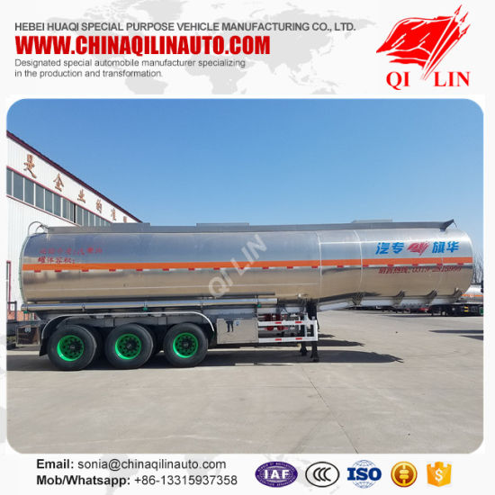 2017 Hot Aluminum 45m3 Fuel Tank Semi Trailer pictures & photos