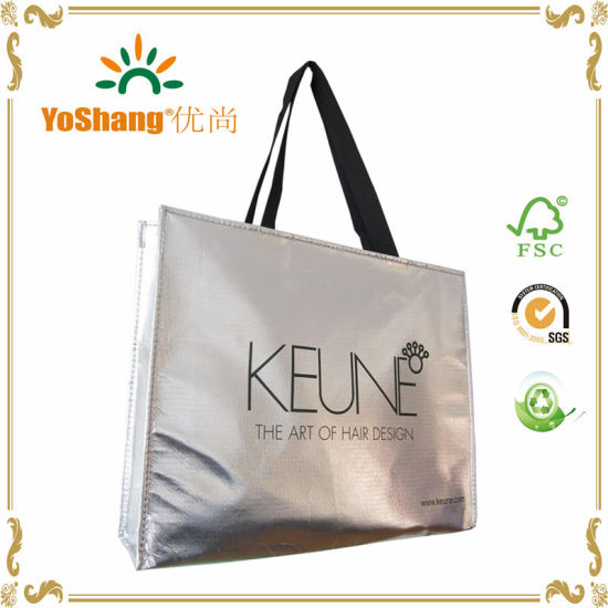 bf8c962e164f China Metallic Gold or Silver Laser Coating Non Woven Eco Bag ...