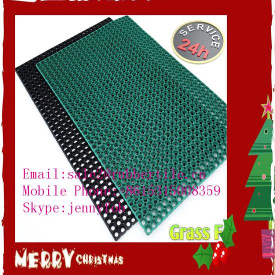 Industrial Anti-Slip Rubber Garage Floor Mat, Microfibre Kitchen Rug
