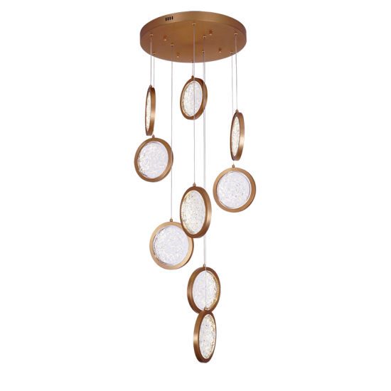 Clear Glass 9 Heads Crystal Chandelier Pendant Light for Living Room