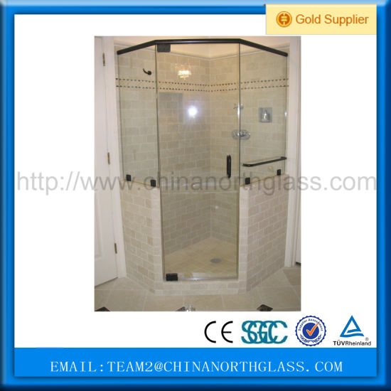 10mm Tinted/Clear or Frosted Tempered Glass for Bathroom pictures & photos