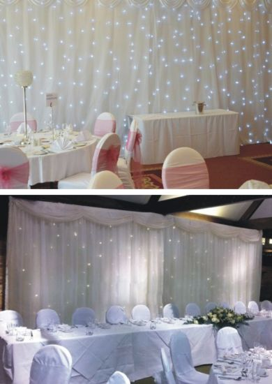 LED Stage Starlit Backdrop Star Curtain Wedding Party Decoration