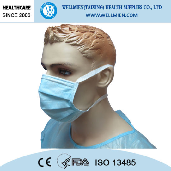 Disposable With Surgical Tie On Mouth-muffle