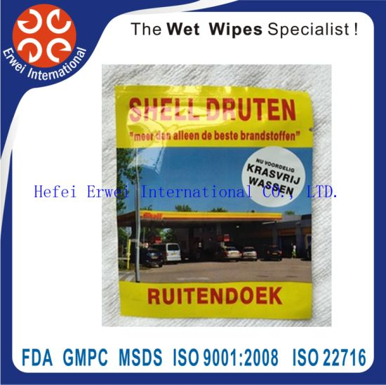 Individual Wrapped Car Wet Wipe Manufacturer pictures & photos