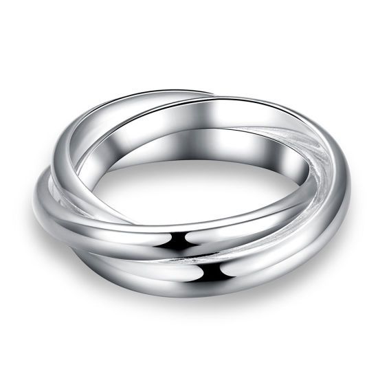 Simple Three Circle Ring Silver Plated Ring Jewelry pictures & photos