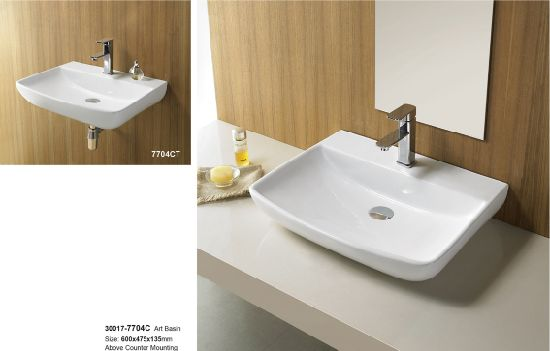 Hotel Modern Bathroom Sink Ceramic Cabinet Wash Basin 30017