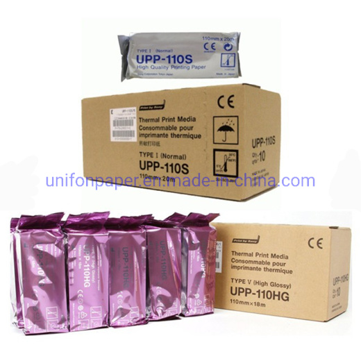 Medical Consumables Glossy Upp-110s Upp-110hg Ultrasound Thermal Paper Roll for Video Printer