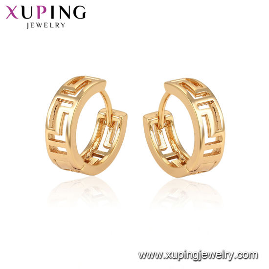 Fashion Jewelry 18K Gold Color Hoop Earrings pictures & photos