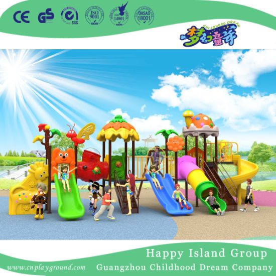 2018 New Outdoor Cartoon Animal Roof Children Playground Equipment with Bee and Flower (H17-B6) pictures & photos