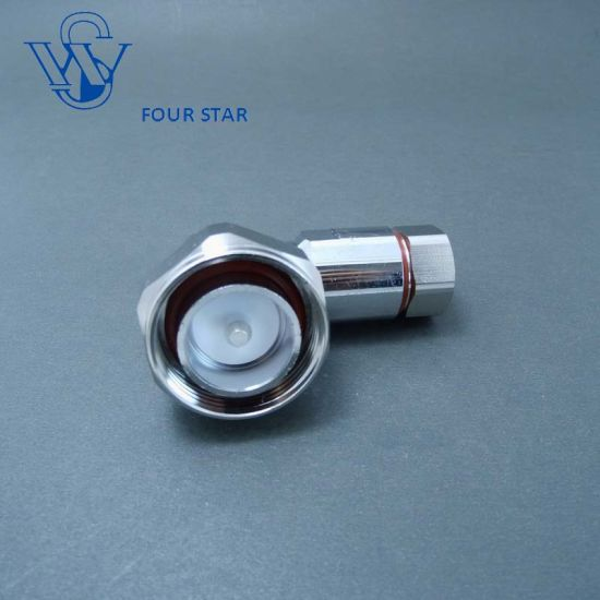 "Male Right Angle Clamp 7/16 DIN Connector for 1/2"" Superflexible Cable pictures & photos"