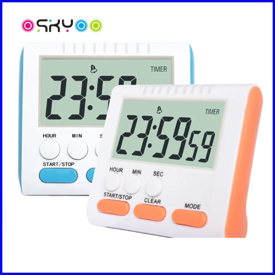 24 Hours Clock Memory Multi-Function Electronic Kitchen Cooking Timer Alarm