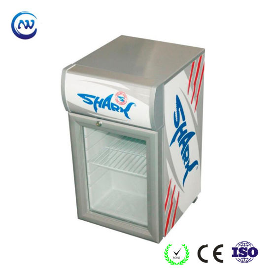 Table Top Glass Door Mini Fridge for Soft Drink Promotion (JGA-SC20)