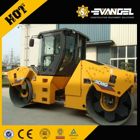 China 12 Ton Small Double Drum Vibration Road Roller Xd122