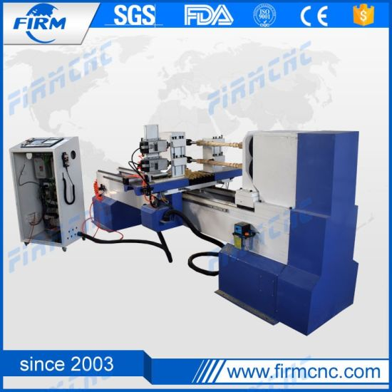 2021 New Wood Turning Lathe Machine CNC Router for Cylindrical Material