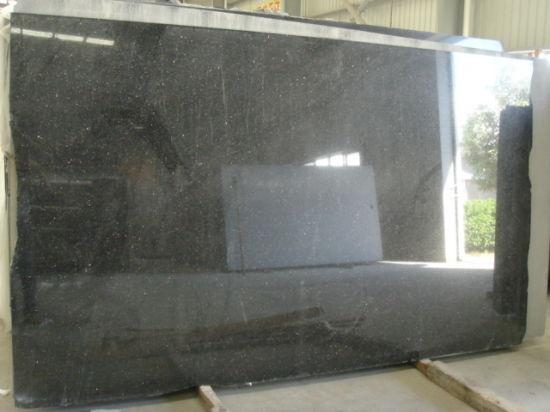 China Black Galaxy Granite Slabstiles Granite Flooringwalling