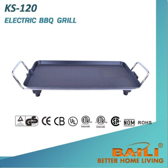 Electric Griddle with Non-Stick Cooking Surface and Bamboo Base pictures & photos