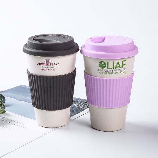 Christmas Gift Eco Friendly OEM Custom Logo Travel Reusable Coffee Gift Bamboo Fibre Cup