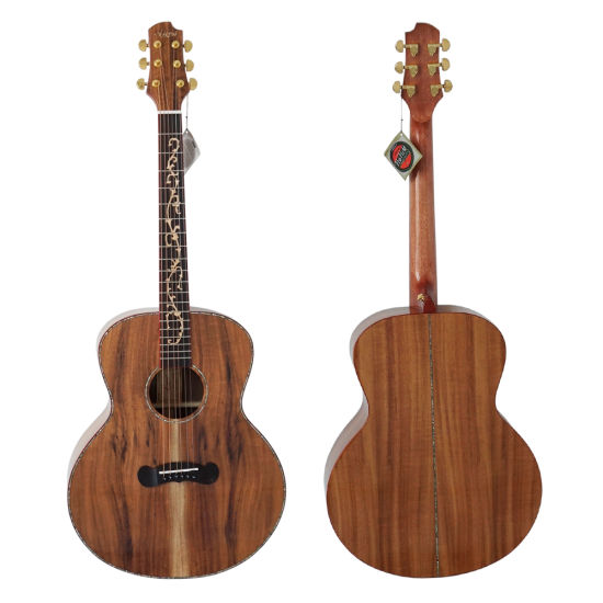 Wholesale High End Musical Instruments Top Solid Acoustic Guitar pictures & photos