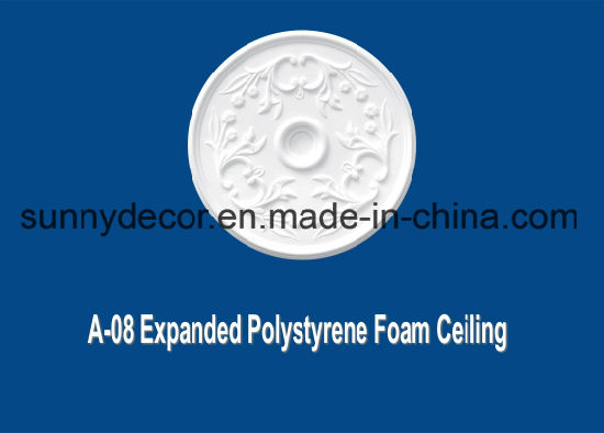 EPS Foam Cornice a-08 Extruded Polystyrene Foam Decorative Ceiling