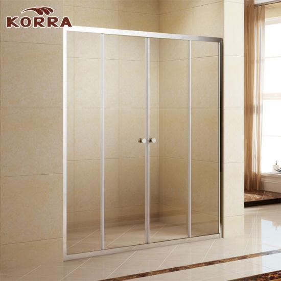 China Aluminium Frame 5mm Glass Shower Enclosure with Sliding Door ...
