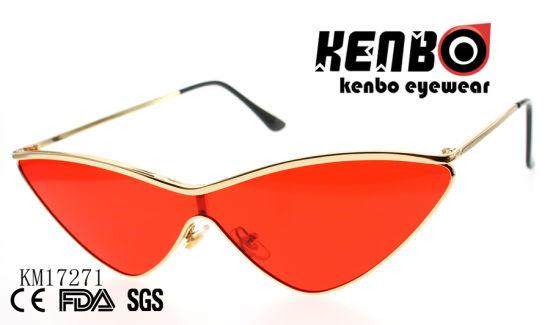 e4124b1d61a5 China Cat Eye Sunglasses with One Piece Lens Km17271 - China ...