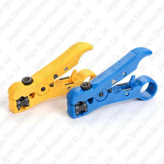 For RG59 RG6 RG7 RG11 Wire  Rotary Coax Coaxial Cable Cutter Stripping Tool