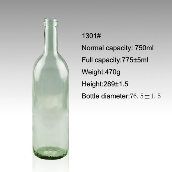 Superior Quality Glass Bottle for Spirit in Clear Color