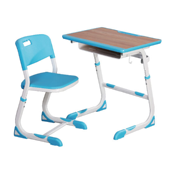 Modern Single School Desk and Chair of Education Furniture
