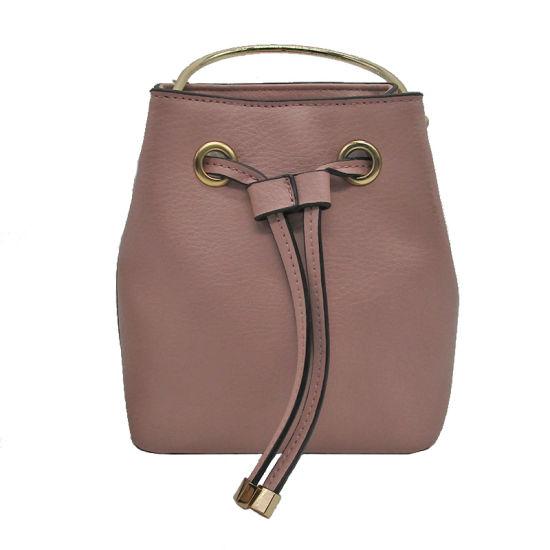Fashion Lady Bucket Backpack Bag Women PU Leather Shoulder Bags Simple  Design Handbags 5d688e5b15dd3