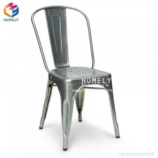 Homely Cafe Marais Metal Tolix Chair Stackable For Sale