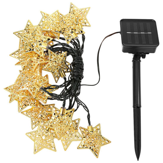 500 LEDs Warm White Solar Powered Garden String Lights Fairy Wedding Party Lamps