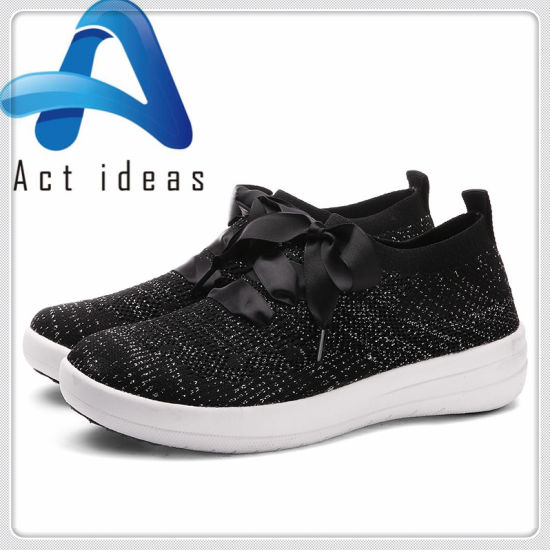 Fashion Style Wholesale Fly Knit Sport Shoes for Women