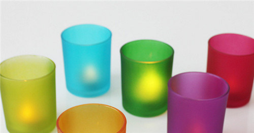 Color Glass Candle Holder for Decoration pictures & photos
