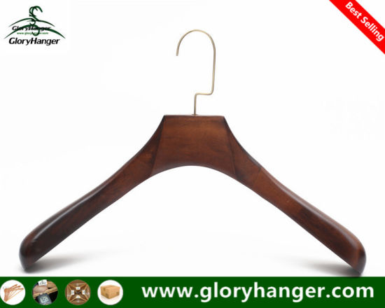 Garment Wooden Coat Hanger for Man Clothes Suit Furniture Fashion Display