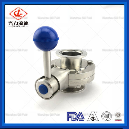 Sanitary Tri Clamp End Butterfly Valve with Pull Handle