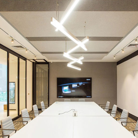 Conference Room Studio Office Dining Led Rectangular Pendant Lighting