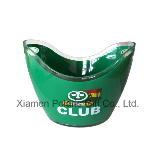 8L Full Color Club Logo Printing Double Wall Ice Bucket